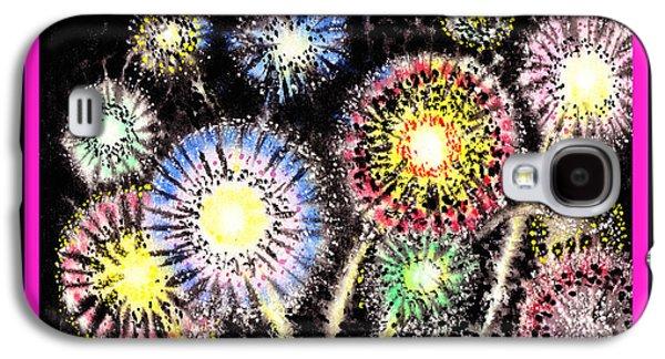 Watercolorful Fireworks Galaxy S4 Case by Irina Sztukowski