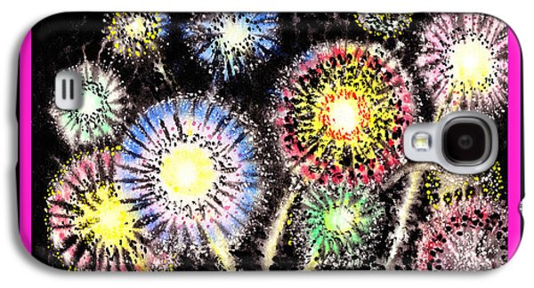 Watercolorful Fireworks Galaxy S4 Case