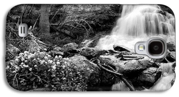 Waterfall Black And White Galaxy S4 Case