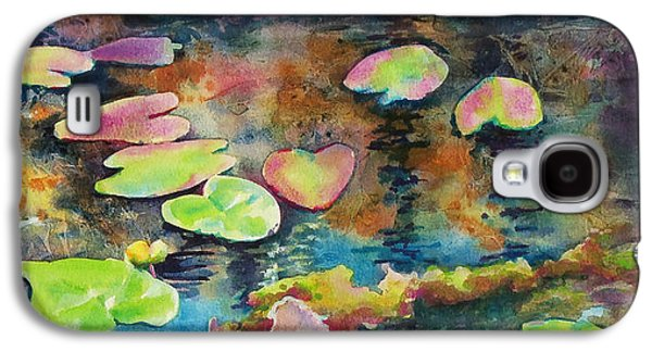 Waterlilies In Shadow Galaxy S4 Case by Kathy Braud