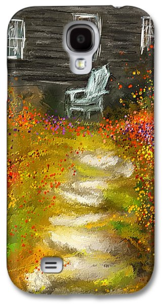 Watson Farm - Old Farmhouse Painting Galaxy S4 Case by Lourry Legarde