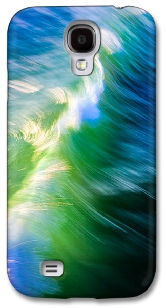 Wave Abstract Triptych 1 Galaxy S4 Case