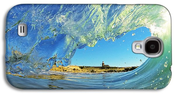 Wave And Lighthouse 1 Galaxy S4 Case by Paul Topp