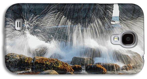 Waves Breaking On Rocks, Harris Beach Galaxy S4 Case