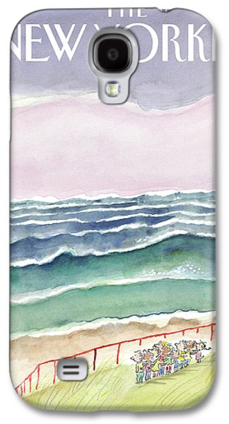 Waves Galaxy S4 Case by Jean-Jacques Sempe
