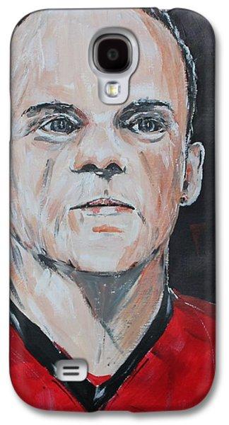 Wayne Rooney Galaxy S4 Case by John Halliday