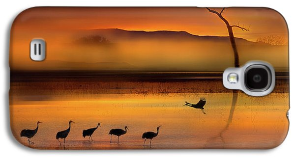Crane Galaxy S4 Case - We Are Here Waiting For You by Shenshen Dou