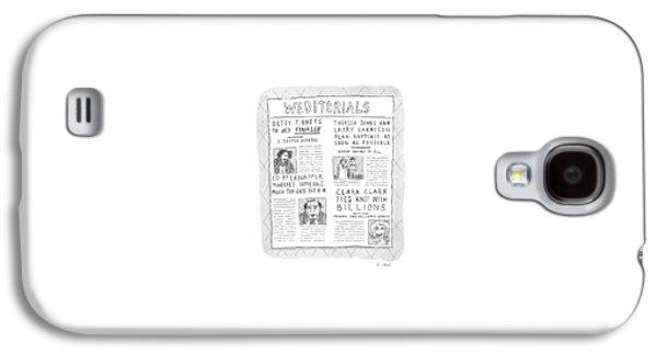Weditorials Galaxy S4 Case by Roz Chast