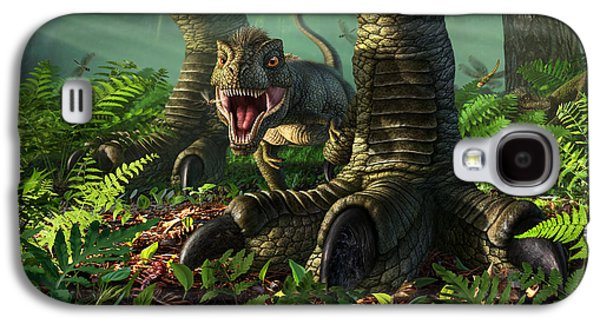 Wee Rex Galaxy S4 Case by Jerry LoFaro