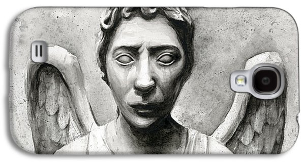 Science Fiction Galaxy S4 Case - Weeping Angel Don't Blink Doctor Who Fan Art by Olga Shvartsur