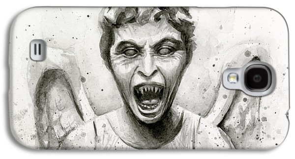Weeping Angel Watercolor - Don't Blink Galaxy S4 Case by Olga Shvartsur