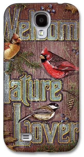 Cardinal Galaxy S4 Case - Welcome Nature Lovers 2 by JQ Licensing