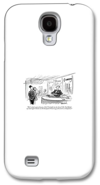 International Travel Galaxy S4 Case - Well, What's Your Pleasure, Folks? Twilight by Donald Reilly