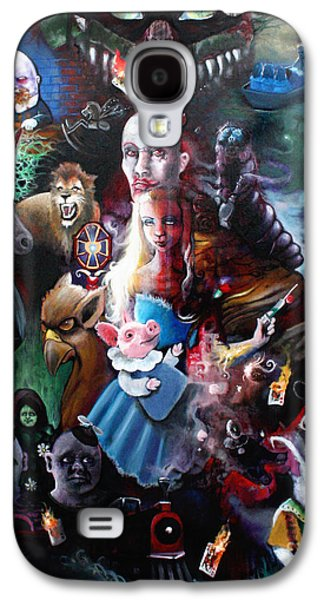 We're All Mad Here Galaxy S4 Case by Michael Parsons