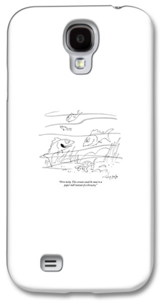 Reptiles Galaxy S4 Case - We're Lucky. This Stream Could Be Next To A Paper by Vahan Shirvanian
