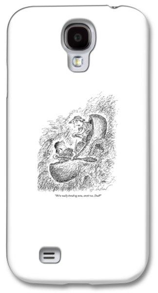 We're Really Bonding Now Galaxy S4 Case by Edward Koren
