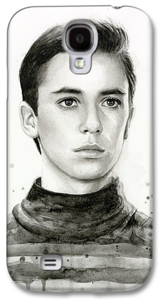 Wesley Crusher Star Trek Fan Art Galaxy S4 Case by Olga Shvartsur