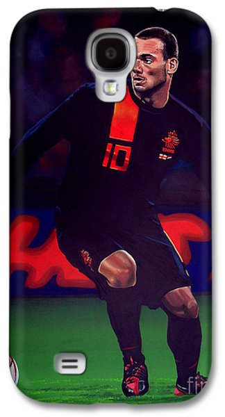 Wesley Sneijder  Galaxy S4 Case by Paul Meijering