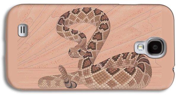 Western Diamondback Rattlesnake Galaxy S4 Case by Nathan Marcy