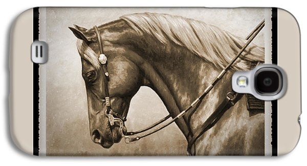 Western Horse Old Photo Fx Galaxy S4 Case by Crista Forest
