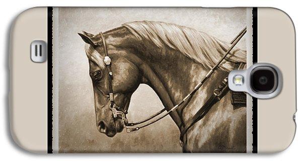 Western Horse Old Photo Fx Galaxy S4 Case