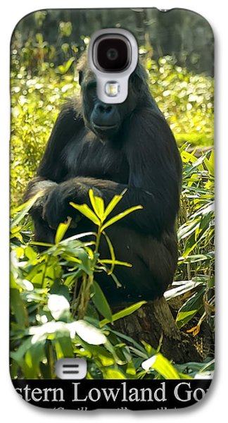 Western Lowland Gorilla Sitting On A Tree Stump Galaxy S4 Case