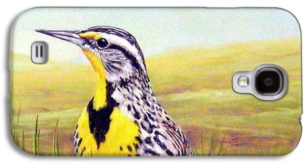 Western Meadowlark Galaxy S4 Case by Tom Chapman