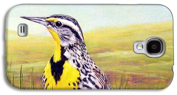 Western Meadowlark Galaxy S4 Case by Tom Chapman