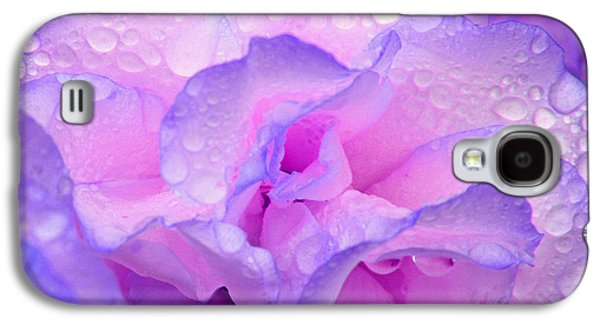 Wet Rose In Pink And Violet Galaxy S4 Case by Nareeta Martin