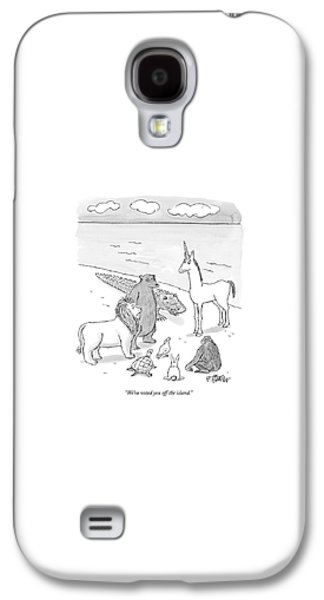 Reptiles Galaxy S4 Case - We've Voted You Off The Island by Peter Steiner