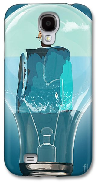 Whale Lights  Galaxy S4 Case by Mark Ashkenazi