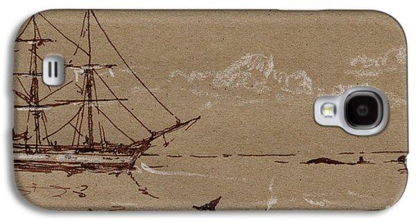 Whaler Ship Frigate Galaxy S4 Case by Juan  Bosco