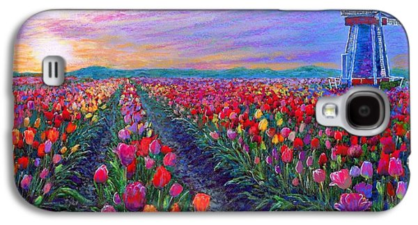 Tulip Galaxy S4 Case -  Tulip Fields, What Dreams May Come by Jane Small