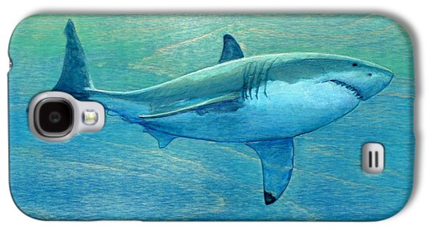 Sharks Galaxy S4 Case - What Lurks Below by Nathan Ledyard