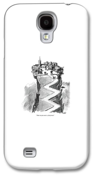 What This Place Needs Is A Film Festival Galaxy S4 Case