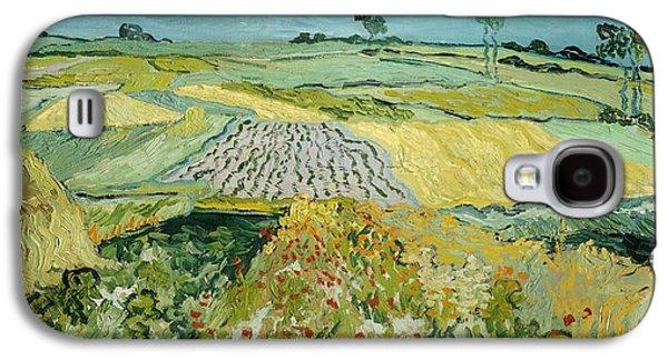 Wheatfields Near Auvers-sur-oise Galaxy S4 Case by Vincent van Gogh