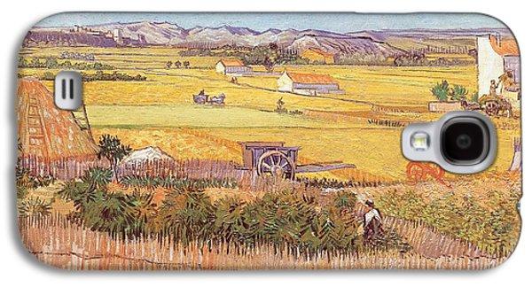 Wheatfields Galaxy S4 Case by Vincent van Gogh