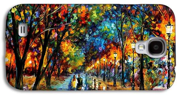 When Dreams Come True - Palette Knlfe Landscape Park Oil Painting On Canvas By Leonid Afremov Galaxy S4 Case