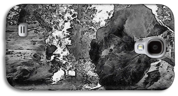 When Giants Fall Black And White Galaxy S4 Case by Barbara Snyder