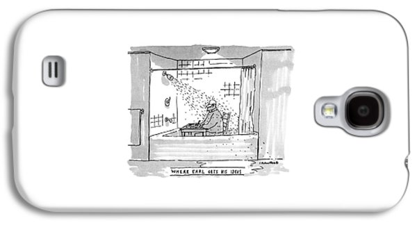 Where Earl Gets His Ideas Galaxy S4 Case by Michael Crawford