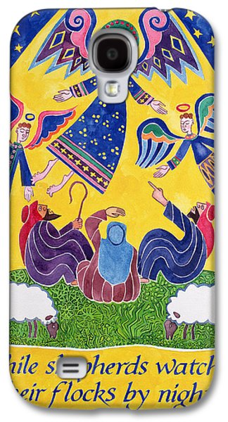 While Shepherds Watched Their Flocks By Night Galaxy S4 Case by Cathy Baxter
