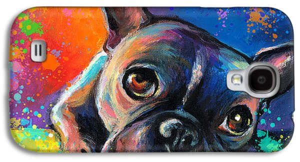 Whimsical Colorful French Bulldog  Galaxy S4 Case by Svetlana Novikova