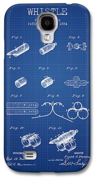Whistle Patent From 1884 - Blueprint Galaxy S4 Case by Aged Pixel