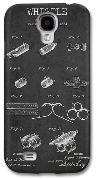 Whistle Patent From 1884 - Charcoal Galaxy S4 Case by Aged Pixel
