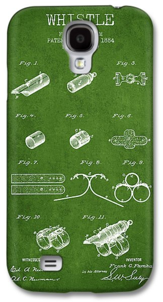 Whistle Patent From 1884 - Green Galaxy S4 Case by Aged Pixel