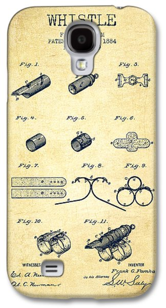 Whistle Patent From 1884 - Vintage Galaxy S4 Case by Aged Pixel