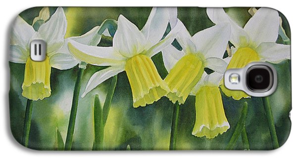 White And Yellow Daffodils Galaxy S4 Case by Sharon Freeman
