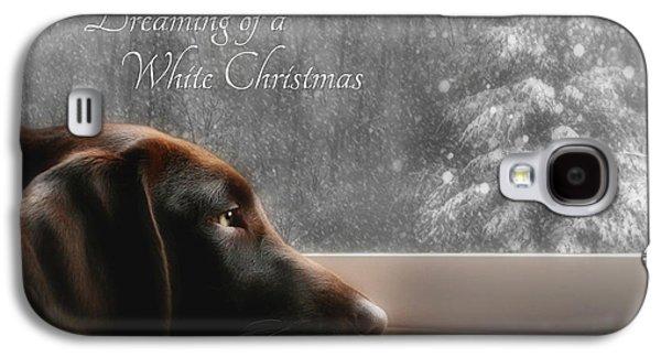 White Christmas Galaxy S4 Case
