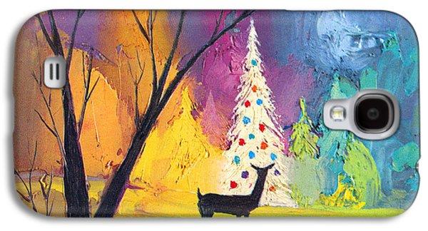 White Christmas Tree Galaxy S4 Case by Munir Alawi