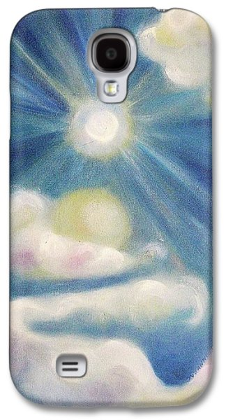 White Clouds And Sun Galaxy S4 Case